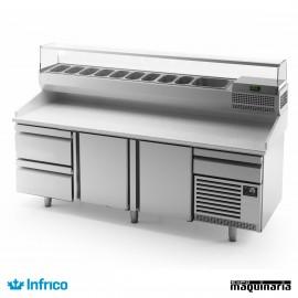 Mesa refrigerada para pizzas (230,5 x 80 cm) MP 2300 CN