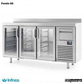 Mesa refrigerada alta puerta cristal(1960 x 600 cm) FMPP 2000 CR