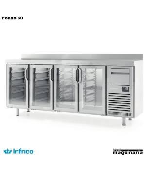Mesa refrigerada alta puerta cristal(2452 x 600 cm) FMPP 2500 CR