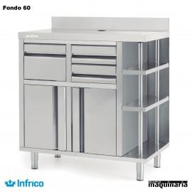 Mueble Cafetero Inoxidable INMCAF 1000 CI