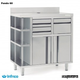 Mueble Cafetero Inoxidable IN MCAF 1000 CD