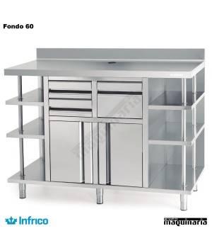 Mueble Cafetero Inoxidable INMCAF 1500