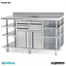 Mueble Cafetero Inoxidable Infrico MCAF 2500