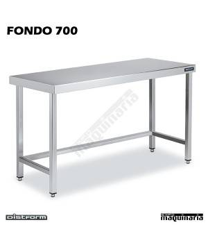 Mesa Acero Inoxidable Central Ancho 70 sin estante