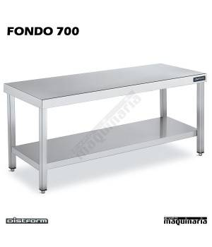 Mesa Acero Inoxidable Central Ancho 700