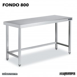 Mesa Acero Inoxidable Central FONDO 800 marco refuerzo