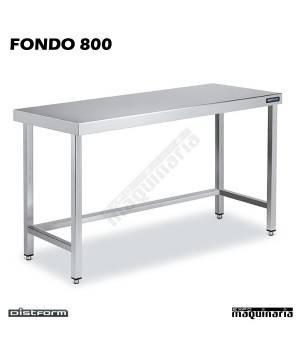 Mesa Acero Inoxidable Central FONDO 800 marco refuerzo