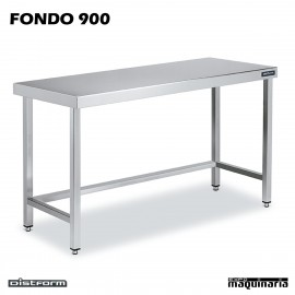 Mesa Acero Inoxidable Central FONDO 900 marco refuerzo