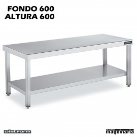 Mesa CENTRAL BAJA Fondo 60 CON ESTANTE