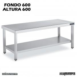 Mesa Acero Inoxidable Altura 600 Central Ancho 600