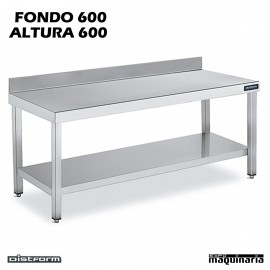 Mesa MURAL BAJA Fondo 60 CON ESTANTE