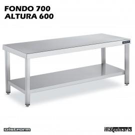 Mesa CENTRAL BAJA Fondo 70 CON ESTANTE