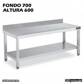 Mesa MURAL BAJA Fondo 70 CON ESTANTE