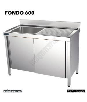 Fregadero acero inox. escurridor derecha Fondo 600