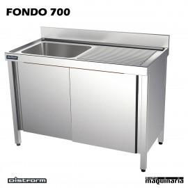 Fregaderos fondo 70 con mueble acero inoxidable - Fregadero con mueble ...