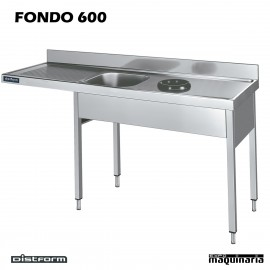 Fregadero, bastidor, aro desbarazado, escurridor, espacio de lavavajillas F600