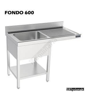 Fregadero y bastidor con espacio lavavajillas (fondo 600)