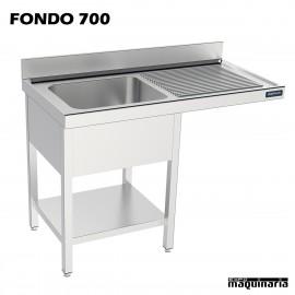 Fregadero y bastidor, con espacio para el lavavajillas (fondo 600)