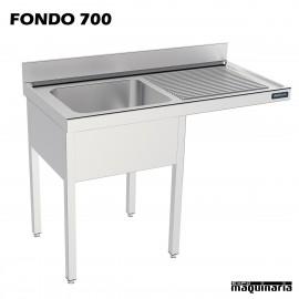 Fregadero con hueco lavavajillas (fondo 60) con estante