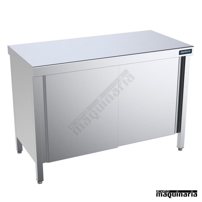 Mueble neutro central fondo 600 mm con puertas correderas for Mueble 10 cm fondo