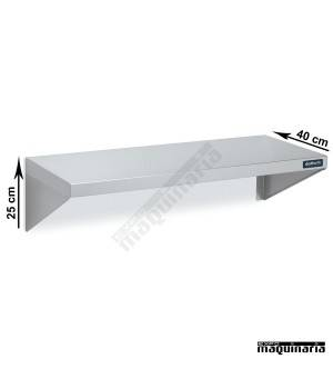 Estante de pared de acero inox fondo 25 cm DIF0100207