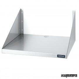 Estante de pared de acero inox para microondas DIF0200401