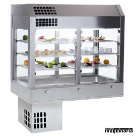 Vitrina refrigerada 3 niveles con cuba y grupo