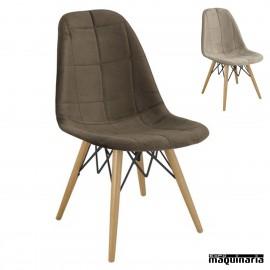 Sillas diseño nordico 1R705 tapizada