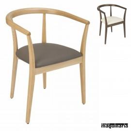 Sillon madera tapizado 2R845