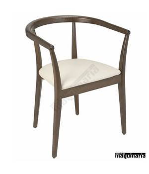 Sillon madera wengue tapizado 2R845