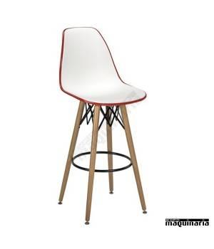 Taburete diseño 5R700 rojo y blanco