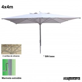 Parasol cuadrado 4x4 metros CVMASTER4