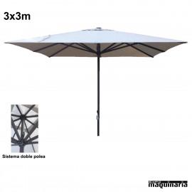 Parasol cuadrado 3x3 metros CVHEAVY-DUTY