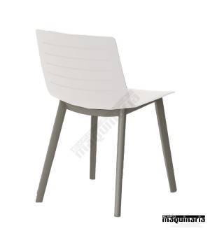 Silla terraza bar RECLICK-SKIN de plastico blanco