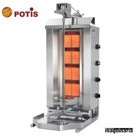 Asador de kebab potis POGD4 gas