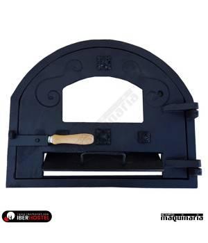 Puerta horno leña Visor Cristal, Hierro máxima calidad IHPUERT-FSC