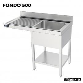 Fregadero y bastidor, estante con espacio lavavajillas (f-500)