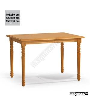Mesa madera JOMF4PT-T rectangular torneada