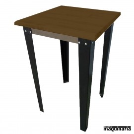 Mesa alta madera FAKIEVMAD-H patas metalicas