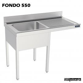 Fregadero y bastidor con espacio lavavajillas (fondo 550)