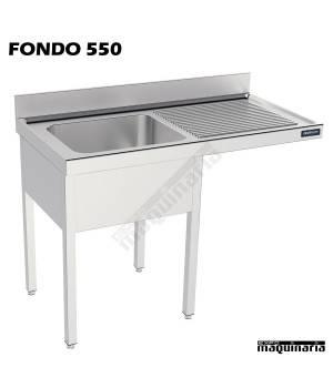 Fregadero y bastidor, con espacio para el lavavajillas (fondo 500)