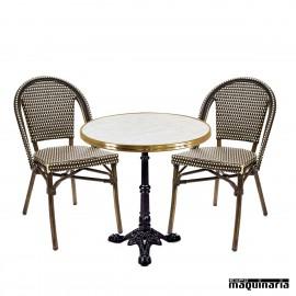 Conjunto de mesa y sillas IMPARISINO-PARIS