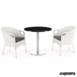 Conjunto de mesa y sillas IMPADUA-GROMA