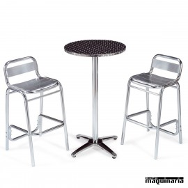 Mesa con taburetes IMMEDIT-DINAM Lamas Aluminio