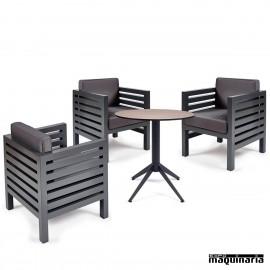Conjunto de mesa y sillas IMORION-MILANO