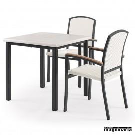 Conjunto de mesa y sillas IMMALAGA-EROS