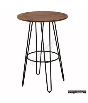 Mesa madera y forja AGT1414
