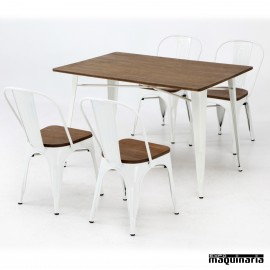 Conjunto de mesa y sillas AGCONJ-ANTIK industrial