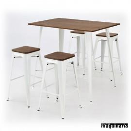 Mesa con taburetes AGCONJANTIK2