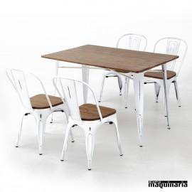 Conjunto de mesa y sillas AGCONJ-VINTAGE envejecido